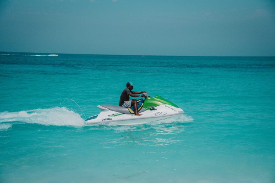 Jet skiing on a Working Holiday